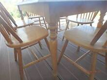 Timber dining table and chairs Camden Camden Area Preview