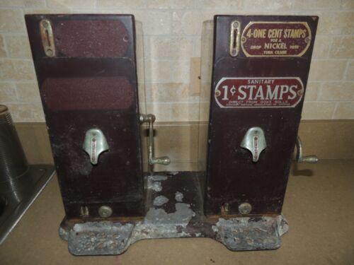2 SIDED SCHERMACK DETROIT SANITARY 1 CENT STAMP MACHINE