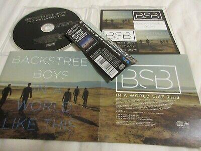 BACKSTREET BOYS / in a world like this /JAPAN LTD CD OBI sticker comprar usado  Enviando para Brazil