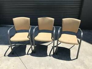 Beige fabric stackable chairs [238] Braybrook Maribyrnong Area Preview
