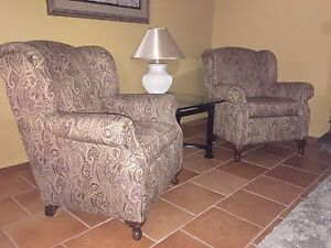 Two Queen Ann Wing back chairs. Price is for single chair.