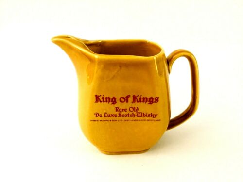 King of Kings Rare Old Deluxe Scotch Yellow Whisky Pub Jug Scotland Regicor Wade