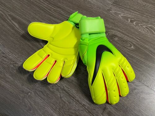 Nike GK Spyne Pro Goalkeeper Gloves Green Volt Black Size 11 PGS223-365 NEW