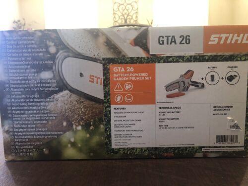 NEW STIHL GTA26 Handheld Pruner Chainsaw Battery Power w/ ca