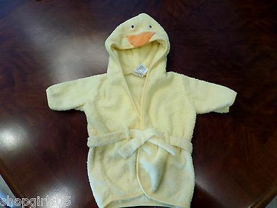 CARTERS HOODED DUCK TERRY ROBE YELLOW  ONE SIZE  UNISEX 100% COTTON