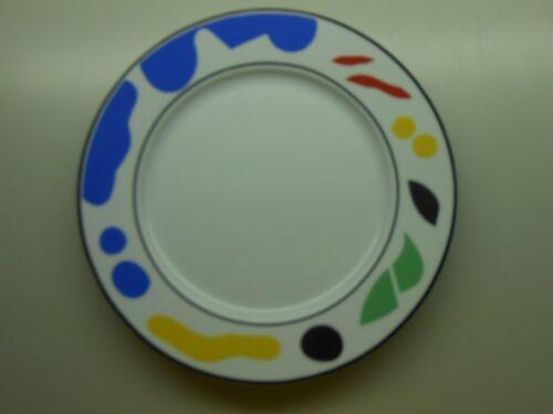 Set of 4 Block Spal Portugal Dinner Plates - Splash Pattern - Memphis Style