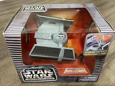 NEW Star Wars Action Fleet Darth Vader's Tie Fighter 1996 Galoob Micro Machines