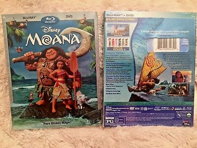 Moana Blu Ray   Dvd  Disney 2017  Brand New  Free Shipping  Family Fun