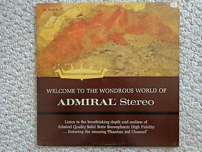 Welcome to the Wondrous World of Admiral Stereo LP DL 734212 (#2238) 1963