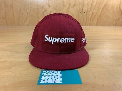 Supreme New Era 59 Fifty Fitted 7 3//4 Green Text Stripe Box Logo Hat SS19