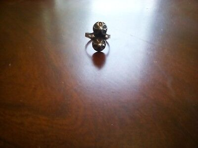 (Etruscan style silver double dome filligree with a nice patina ring size 8-9)