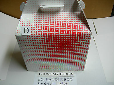 Economy Lg.chicken Take Out Handle Barn Box 125ct For Broaster Henny Penny Fryer