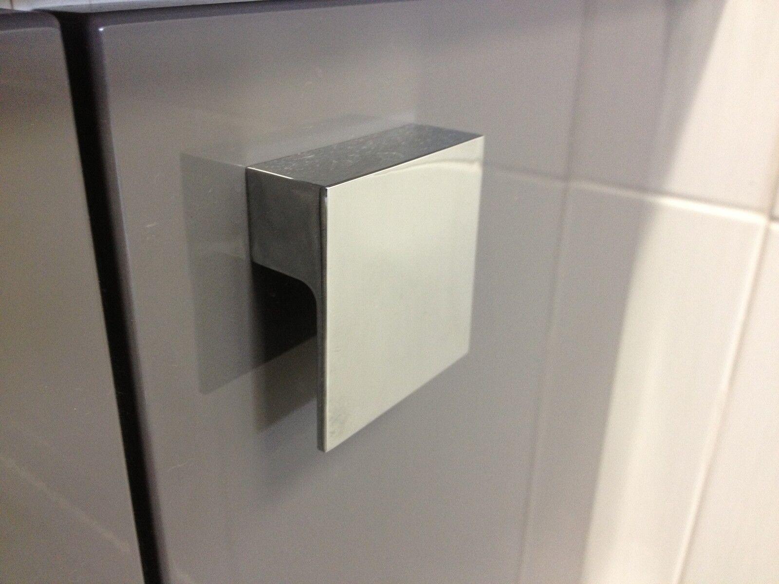 Square Kitchen Door Handles Chrome Kitchen Door Knobs Ebay