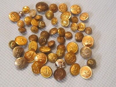 Lot of 51 Vintage Military Buttons.