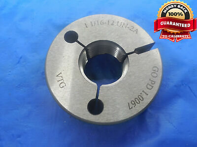 1 116 12 Un 2a Vermont Thread Ring Gage 1.0625 Go Only P.d. 1.0067 N-2a Tool