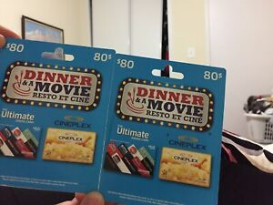 dinner and movie ticket for 2 people