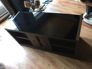 Glass top TV stand/ media center