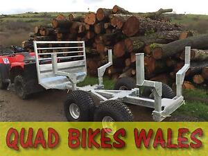 Quad Wood Log Lugger Timber Trailer - Suitable for UTV's ATVs Small Tractors etc