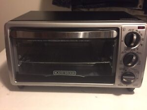 Black & Decker 4 Slice Black Toaster Oven