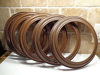 Lot of 5 THE HAMPSHIRE Faux Wood COLLECTOR PLATE FRAMES fits 8 1/2