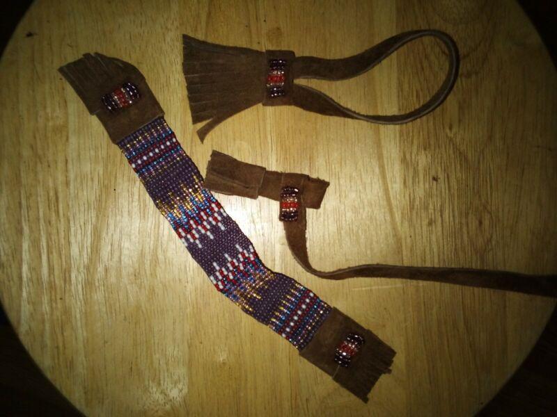 Breyer Peter Stone custom Indian frontier Native costume Beaded purple