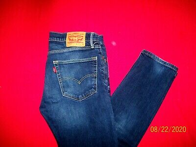 LEVI'S  502  REGULAR TAPERED LEG  STRETCH (1%)   (tag  33 x 34) = actual 33 x 32