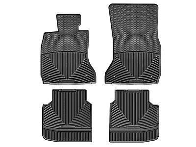 WeatherTech All Weather Car Mats for BMW 7 Series 2013 2015 1st 2nd Row Black