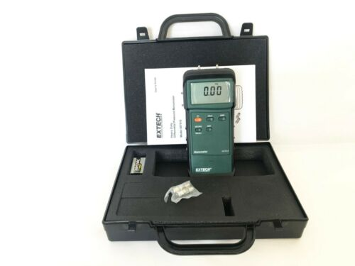 Extech 407910 Heavy Duty Differential Pressure Manometer 29 PSI - NEW