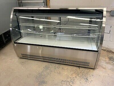 Deli Case New 72 Glass Refrigerated Display Bakery Pastry Meat 6 Cake Donut