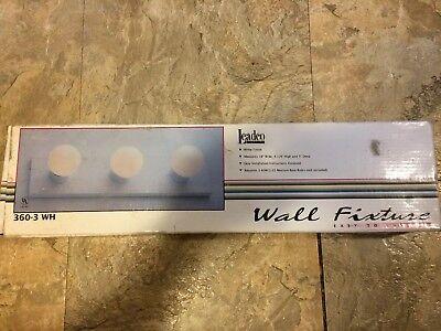 3 Bulb Wall Mount Light - Leadco 360-3 WH 3-Bulb Wall Mount Light Fixture 60W