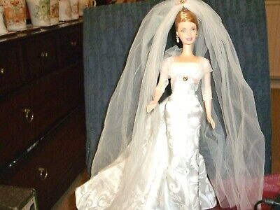 Mattell 2002 Collector Edition Sophisticated Wedding Barbie Doll, Used Excellent