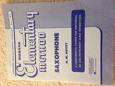 Saxophone 100% Original Musical Instruments & Gear Hal Leonard 04470030 Rubank Elementary Method