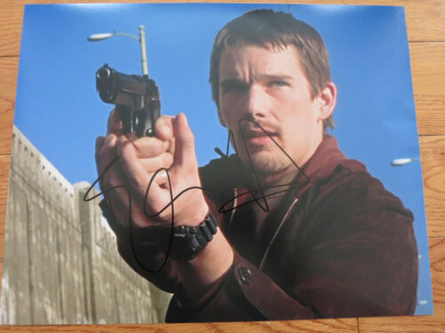 Ethan Hawke signed photo 11x14 coa + Proof! Training Day Dead Poets Society