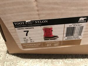 Sorel Snow boots Girls size 7