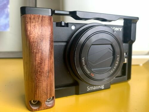 Sony DSC-RX100 IV Cyber-shot 4K Digital Camera Black VG USED Small RIG Cage