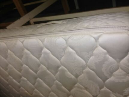 queen bed complete leather /double pillowtop $300