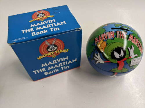LOONEY TUNES MARVIN THE MARTIAN 1998 ROUND EARTH METAL BANK