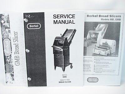 Berkel Gmb Bread Slicer Service Manual Parts Manual Specification Sheet