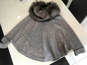 Michael Kors Poncho w/Faux fur neck