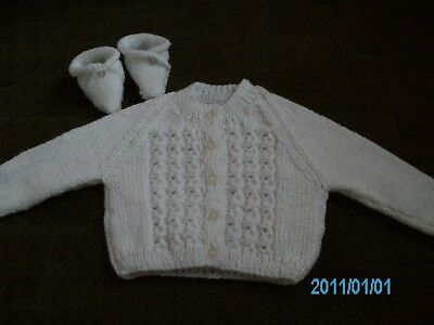 ies cardigan and boots 20 inch chest in sparkle yarn (Mädchen Sparkle Boots)