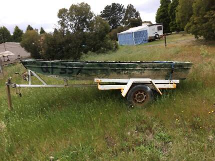 11ft punt trailer and 6hp johnson
