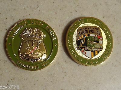Maryland State Police Commercial Vehicle Enforcement 2015 Challenge Coin