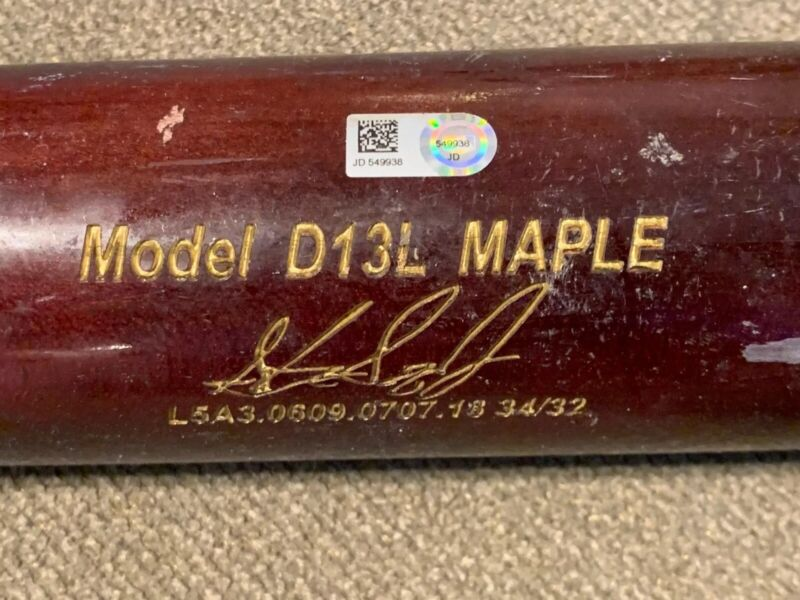Steven Souza Game Used Bat - Mlb Authenticated!
