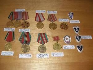 20 RUSSIAN USSR WW1 WW2 JUBILEE WAR MEDALS RIBBONS & SERVICE PINS Flynn Belconnen Area Preview