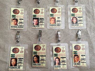 8 ID CARDS Serenity/Firefly ID Badge- REYNOLDS WASHBURNE COBB TAM FRYE SERRA