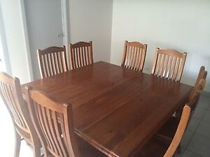 8 seater Solid Timber Table & Chairs Homebush Strathfield Area Preview