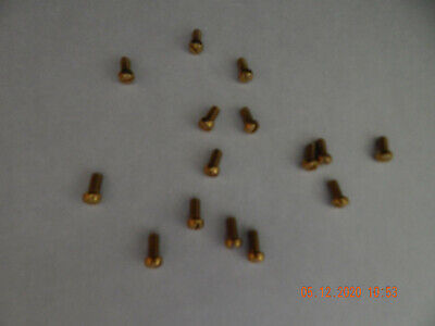 Brass Fillister Head Slotted Machine Screws 1032 X 38 15 Pcs. New