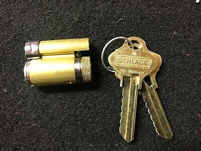 Schlage Cylinder 20-022 KD 2 48-100 Polished Brass