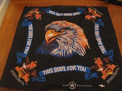 anheuser-busch beer advertising bandana scarf 1995 eagle bird buds (Anheuser Busch Beer)