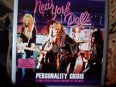 New York Dolls, personality crisis,2 x white vinyl lp,demos & paris,nm/nm/vg+